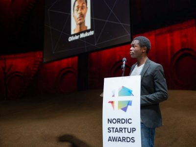 Congolese Entrepreneur Olivier Mukuta Wins the Nordic Startup Awards with his Blockchain Startup VipiCash