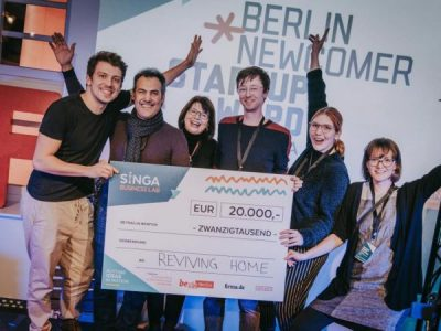 Syrian Startup Reviving Home Scores €20.000 at SINGA's Berlin Newcomer Startup Award